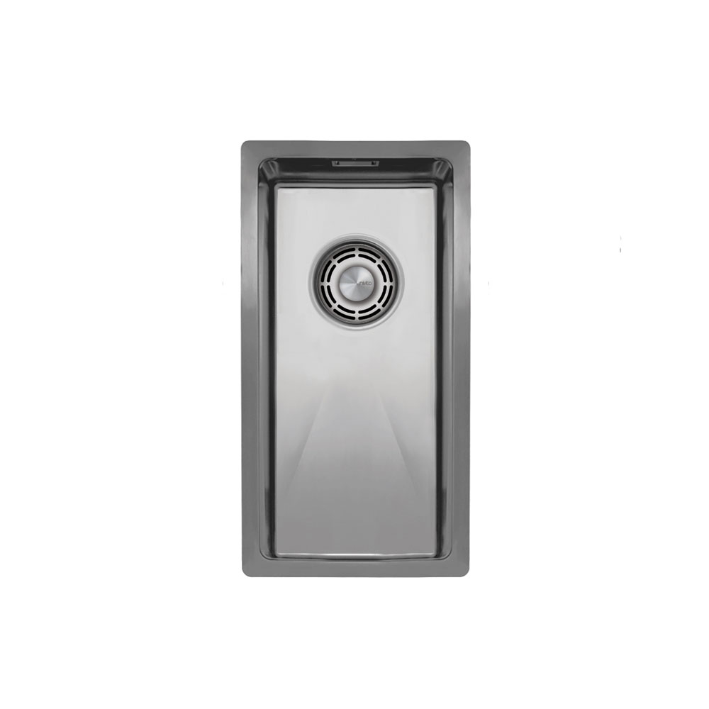 Aço Inoxidável Bacia De Cozinha - Nivito CU-180-B Brushed Steel Strainer ∕ Waste Kit Color