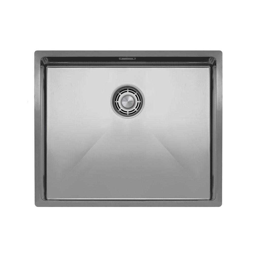 Aço Inoxidável Pia De Cozinha - Nivito CU-500-B Brushed Steel Strainer ∕ Waste Kit Color