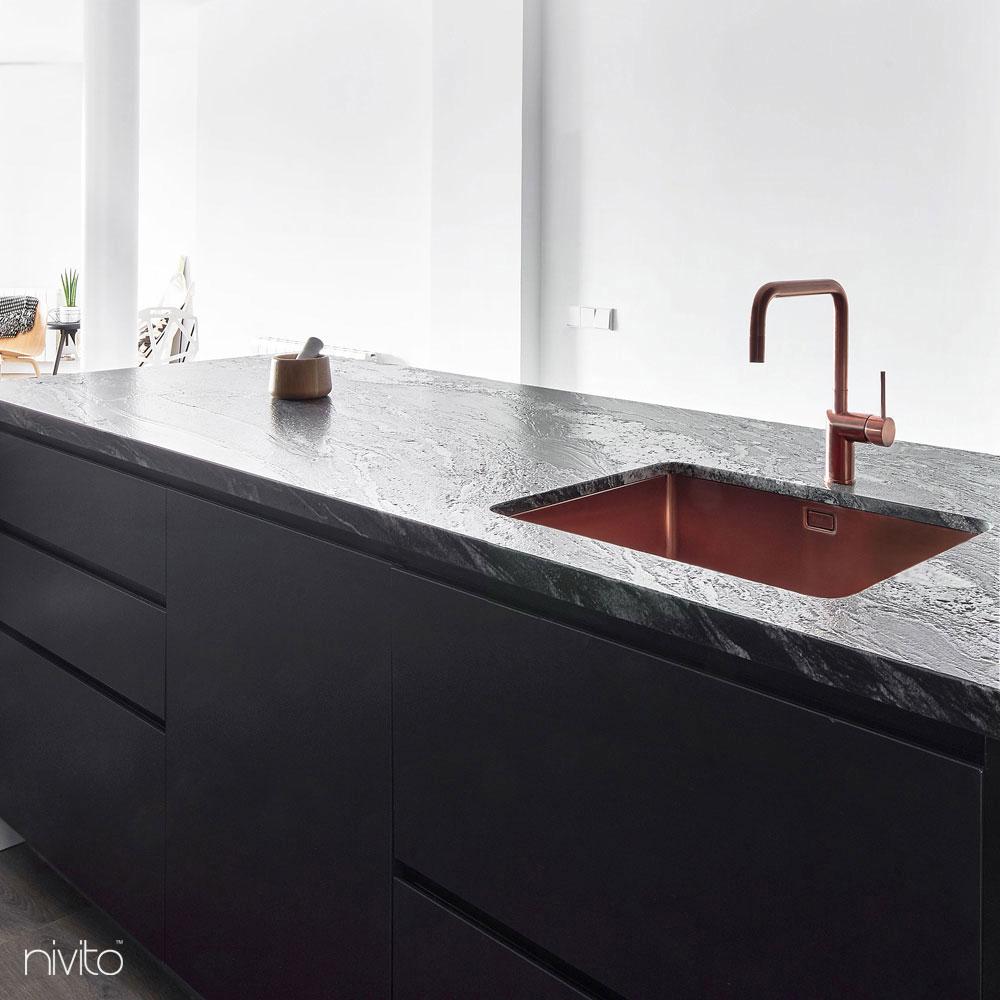 Pia de cozinha cobre