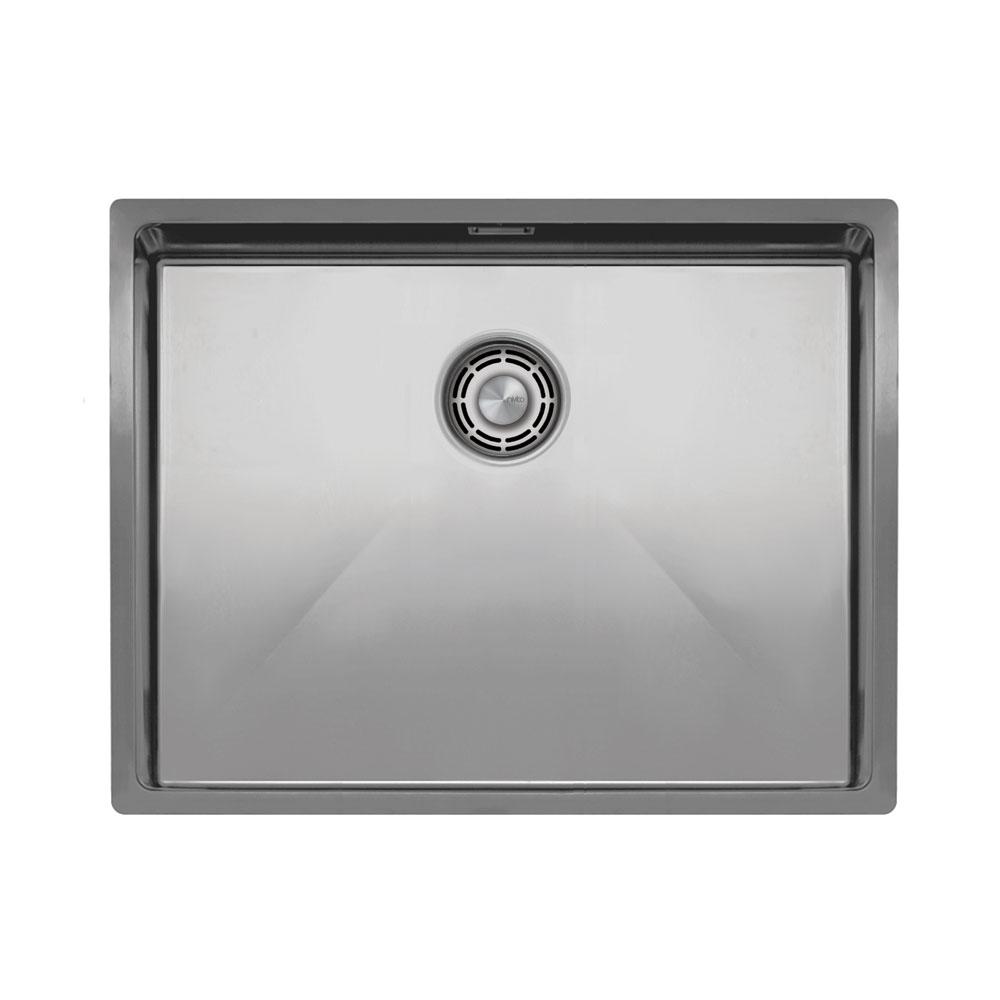Aço Inoxidável Bacia De Cozinha - Nivito CU-550-B Brushed Steel Strainer ∕ Waste Kit Color