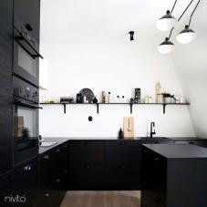 Preto Torneira De Cozinha - Nivito 13-RH-320