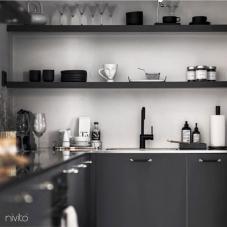 Preto Torneira De Cozinha - Nivito 21-RH-320