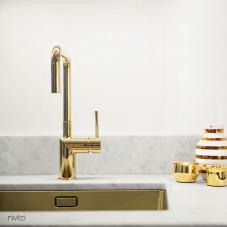 Ouro torneira de latãoware