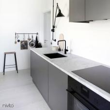 Preto Torneira De Cozinha - Nivito 5-RH-320