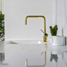 Ouro latão cozinha torneira