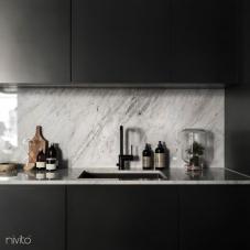 Preto Torneira De Cozinha - Nivito 8-RH-320
