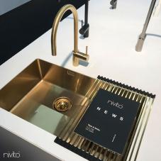 Ouro/Latão Pia De Cozinha - Nivito 1-CU-500-180-BB
