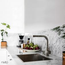 Aço Inoxidável Torneira De Cozinha - Nivito 1-SP-300