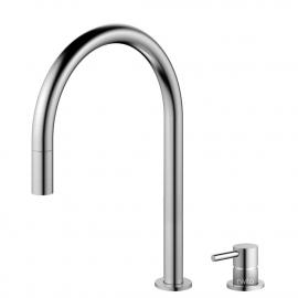 Aço Inoxidável Torneira De Cozinha Mangueira de arrancamento / Corpo/Tubo Separados - Nivito RH-100-VI