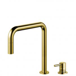 Ouro/Latão Torneira De Cozinha Mangueira de arrancamento / Corpo/Tubo Separados - Nivito RH-340-VI